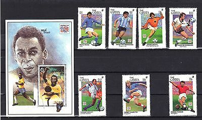 Gambia Mnh 1994 World Cup Soccer Championships Issue