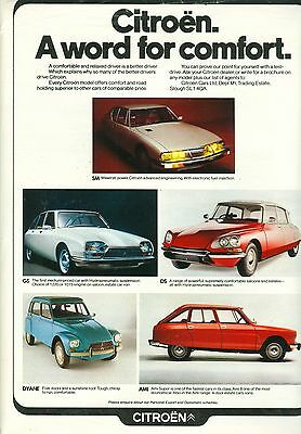 Citroen Range Colour Magazine Advert