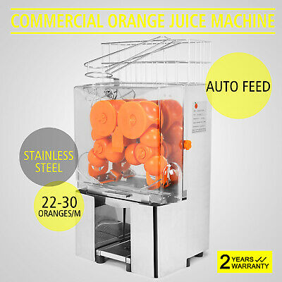 Commercial Electric Orange Squeezer Juice Machine Dirnk Shop Auto Feed GREAT
