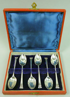 Fine George V Antique Set Of Six Silver Tea /coffee Spoons London 1912 - 58G