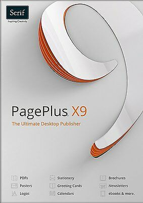 Serif PagePlus X9 Professional Desktop Publishing  + full user guide fast post