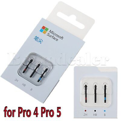Official Replacement Pen Tip Kit (2H, H, HB, B) for Microsoft Surface Pro 4 Pen
