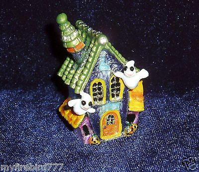 Russian Сollectible Handpainted Decorative Enamel Thimble Ghosthouse