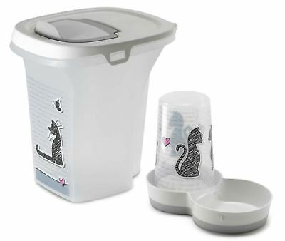 Cat Dry Food Storage or Cat Feeder from Cats in Love Collection Box