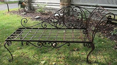 Antique gorgeous Victorian French wrought iron garden lounge  1800-1899