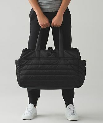 NWT LULULEMON Get Lost Duffel travel & gym bag ~ black o/s
