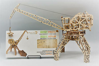 GIFT Idea - Build your own HARBOUR CRANE - WOODTRICK 3D Mechanical Wooden Model
