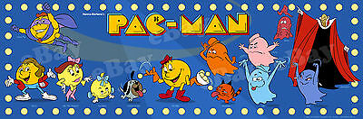 NEW! EXTRA LARGE! PAC-MAN Color Panoramic Photo Print HANNA BARBERA Pacman