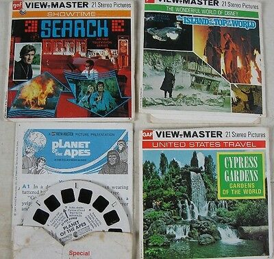 4 Vintage View-Master Seaach Top of The World Planet of the Apes Cypress