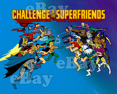 EXTRA LARGE! CHALLENGE OF THE SUPER FRIENDS Poster Print HANNA BARBERA Superman