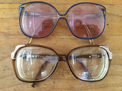 2x PAIRS RETRO CHRISTIAN DIOR & SAPHIRA GLASSES BACK TO THE '80s IN SOFT CASES