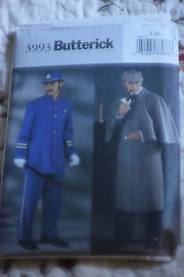 Butterick 3993 Sherlock Holmes Police Bobby Pattern Mens L XL Costume Theater