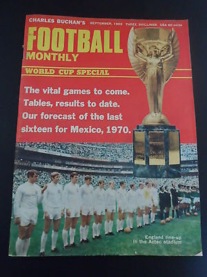Charles Buchan's Football Monthly Magazine - September 1969 WORLD CUP SPECIAL