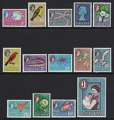 St Helena 1961 full set of 14 - lightly mounted mint