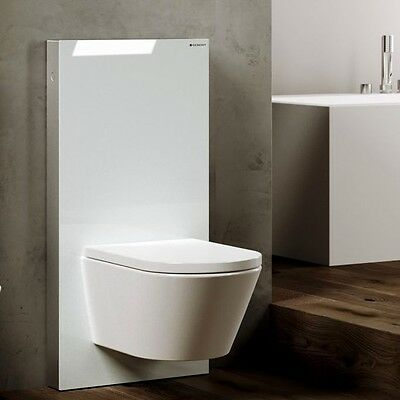 Geberit Monolith WC Glass Toilet Frame for Wall Hung Toilets White 131.021.SI.5