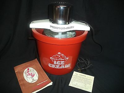 Vintage Collectible Proctor-Silex Electric ICE CREAM MAKER Recipes Unused WORKS