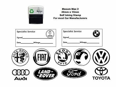Self Inking 46mm x 16mm GARAGE SERVICE Stamp - most manufacturers available