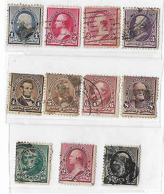 1890 United States Perf 12 A.b.n.c Group Of Used Stamps 1 - 20 Cents