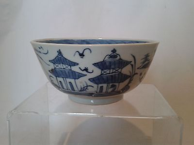 Antique Chinese blue and white canton bowl