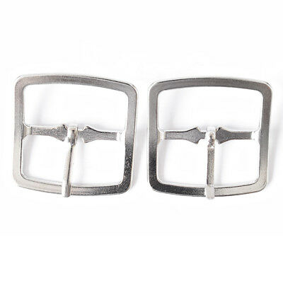 20mm Silver Belt Square Buckles Metal x 2 for Leathercraft Craft Clothing Shoes