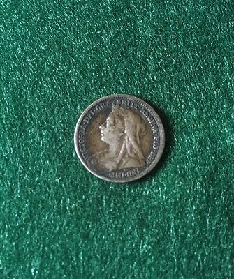 1895 Victoria Old Head Silver Threepence (fair)