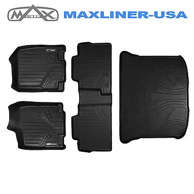 All Weather Floor Mats And Cargo Liner Set Black For Edge / MKX 2011-2014