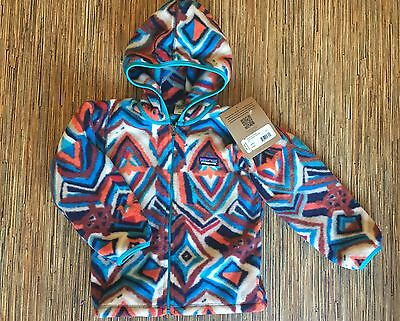 NEW Patagonia Full-Zip Synchilla Fleece With Hood Blue Tapestry Toddler 4T
