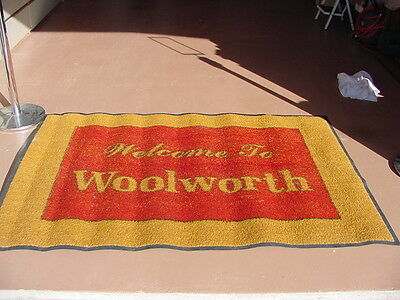 F W Woolworth 5 and 10 Cent  Store Vintage Entrance Door Mat 4' X 6' Boston Ma.