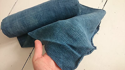 Hand woven hemp fabric 6,5m !!! bolt dyed indigo
