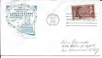 Scott #955 - 150th Ann of Mississippi FDC