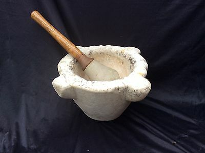 Vintage Very Large Pestle And Mortar