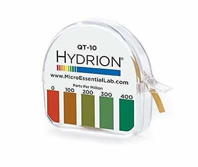 Hydrion QT-10 Papers Quaternary Ammonium Sanitizer Single Roll TEST KIT