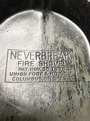 Vintage Neverbreak Fire/Ash Shovel, Union Fork & Hoe Co. 1926