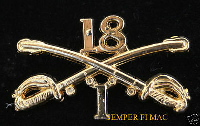 1 SQUADRON 18th US CAVALRY SABER BADGE US ARMY XL HAT PIN 1/18 VETERAN GIFT WOW