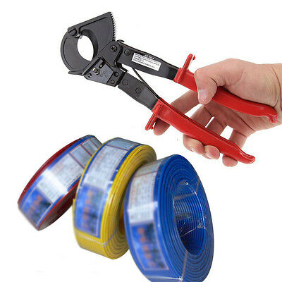 Electrical Heavy Duty Ratchet Wire Cable Cutter 2 Ratcheting Cutting Cut Tools.