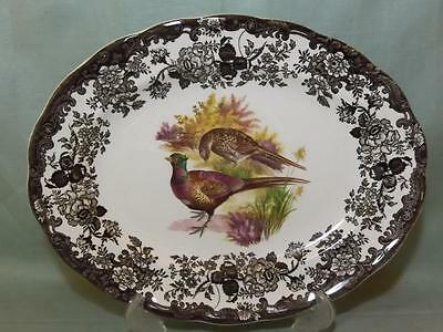 Royal Worcester Palissy Game Series Oval Platter or Steak Plate Pheasant (Lot C)