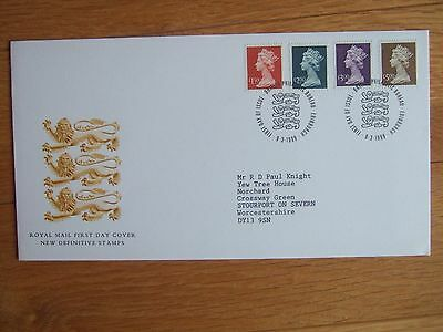 GREAT BRITAIN 1999 MACHIN HIGH VALUE DEFINITIVES 4v FIRST DAY COVER £1.50-£5