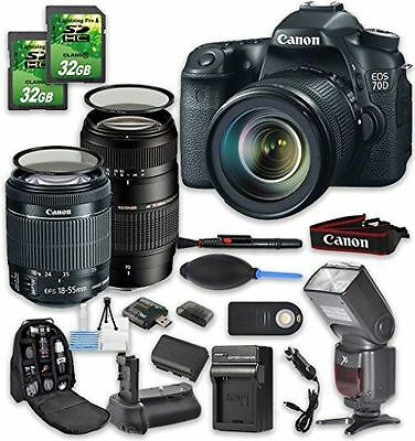 Canon EOS 70D DSLR Camera Bundle with Canon EF-S 18-55mm f/3.5-5.6 IS STM Lens