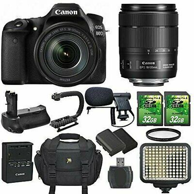 Canon EOS 80D SLR CMOS 24.2MP Digital Camera with Canon EF-S 18-135mm f/3.5-5.6