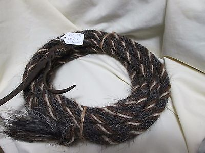 "Mane Horse Hair Mecate 22 ft 9/16"" diameter, Pattern A6"