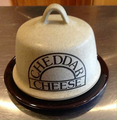 Cheddar Cheese Stoneware Lid With Ceramic Base Cheese Dish