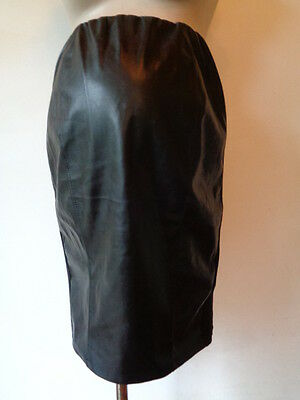 New Look Maternity Black Over Bump Pvc Panel Short Skirt Size 12