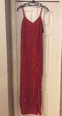 Women's Size Large SCALA Red And Gold  Beaded Dress Gown. Pageant Formal Prom