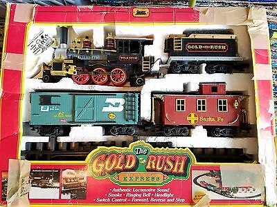 New Bright GOLD RUSH EXPRESS G-Scale Train Set #186 Battery Operated 1996 WORKS