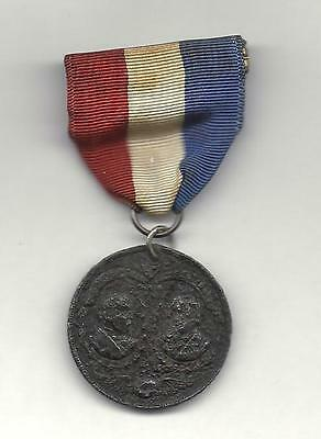 "Benjamin Harrison & Levi Morton. Campaign Ribbon Medal. + 100 Yrs. Old. ""as Is""."