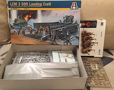Italeri 1:35 LCM 3 50ft Landing Craft + MB 3520 US Infantry soldiers figs D-Day