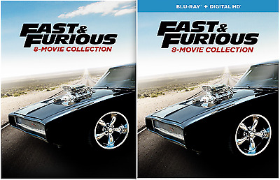 Fast and the Furious - 8 Movie Collection (DVD or Blu-ray) • NEW • & Fate of