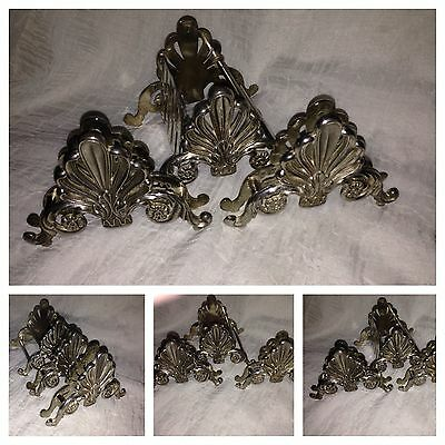 Beautiful Vintage Silver Plated Napkin Holders - Set   Leonard  Italy