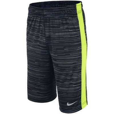 Authentic NIKE Fly GFX1 Youth Boys Dri Fit Training Shorts 618040 MEDIUM Pockets