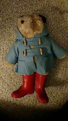 Paddington bear plush 1972 1982 no hat excellent